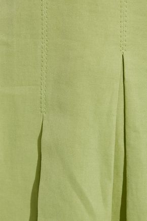 ROSIE ASSOULIN Tie-front cotton and ramie-blend wide-leg pants