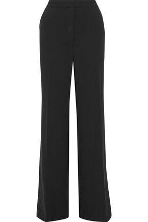 LELA ROSE Maggie wool-blend crepe wide-leg pants