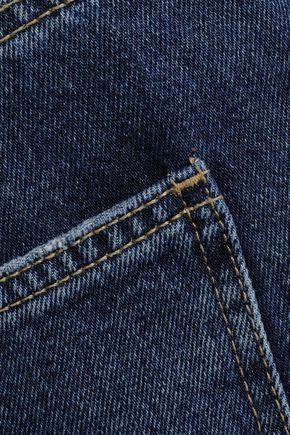 CURRENT/ELLIOTT Peacenik frayed cropped high-rise kick-flare jeans