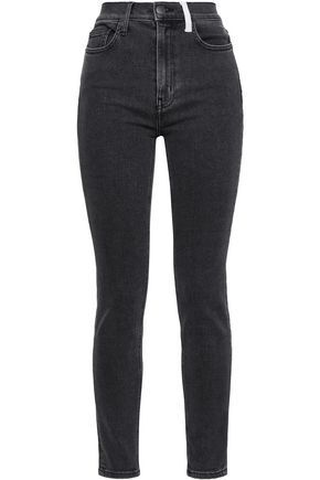 CURRENT/ELLIOTT Kett two-tone high-rise skinny jeans