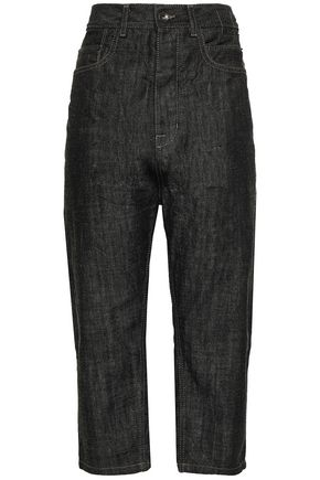 DRKSHDW by RICK OWENS Cropped high-rise straight-leg jeans