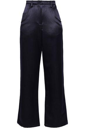CHRISTOPHER ESBER Cotton and linen-blend satin wide-leg pants