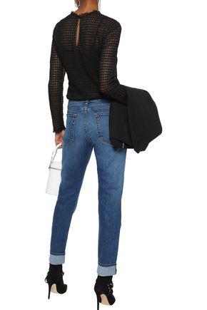 RAG & BONE Dre faded mid-rise slim-leg jeans