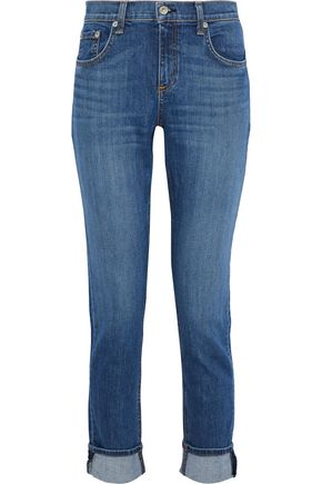 RAG & BONE Dre faded mid-rise slim-leg jeans