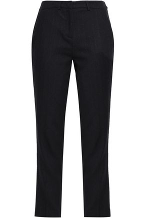 BA&SH Pinstriped twill slim-leg pants