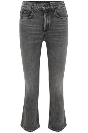 RAG & BONE Hana cropped high-rise bootcut jeans