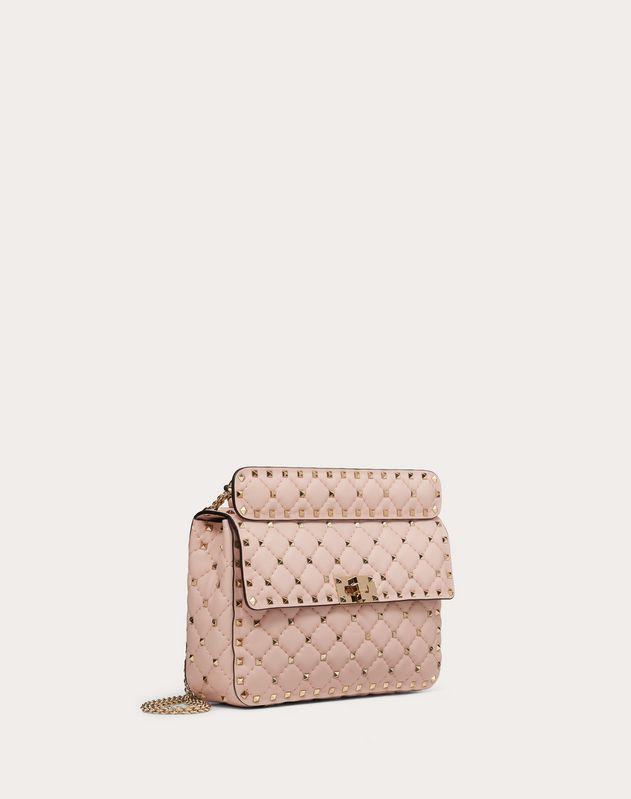Medium Rockstud Spike Nappa Leather Bag