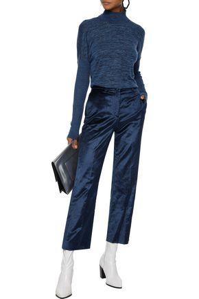 RAG & BONE Libby cotton-blend velvet straight-leg pants