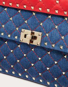 Medium Rockstud Spike Denim Bag