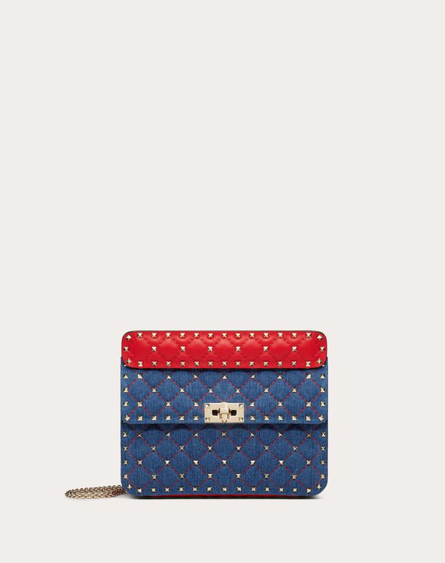 Medium Rockstud Spike Denim Bag