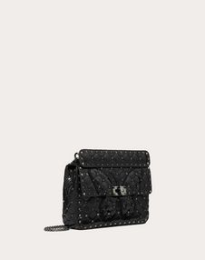 Medium Rockstud Spike.It Bag with Butterfly Inlay