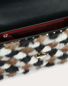 Средняя сумка Rockstud Spike.It из разноцветного меха норки
