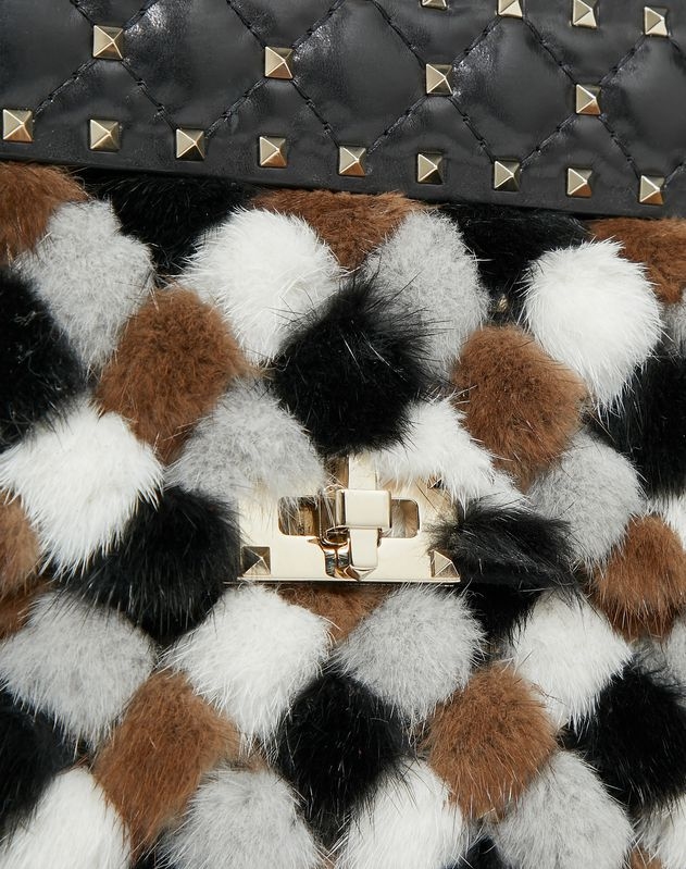 Medium Rockstud Spike.It Multicolored Mink Bag