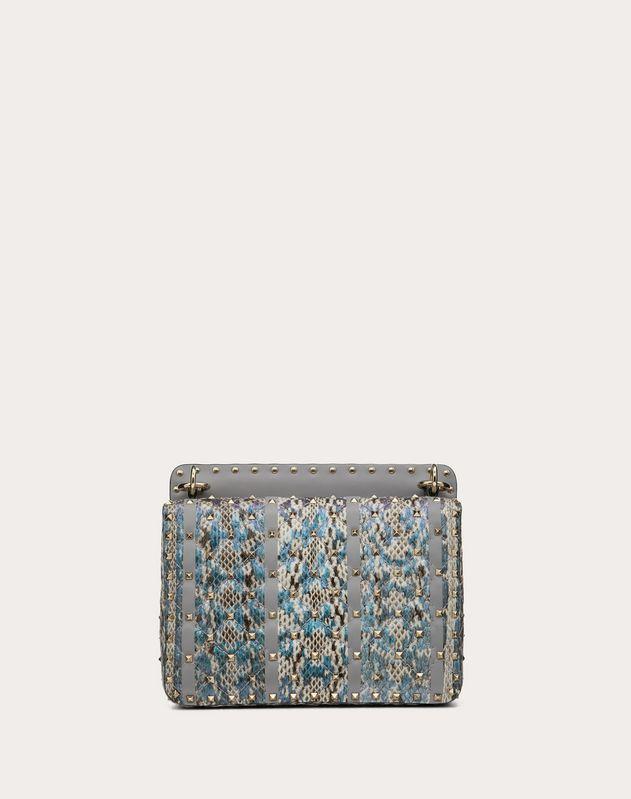 Medium Rockstud Spike.It Bag in Elaphe with Inlay Detail