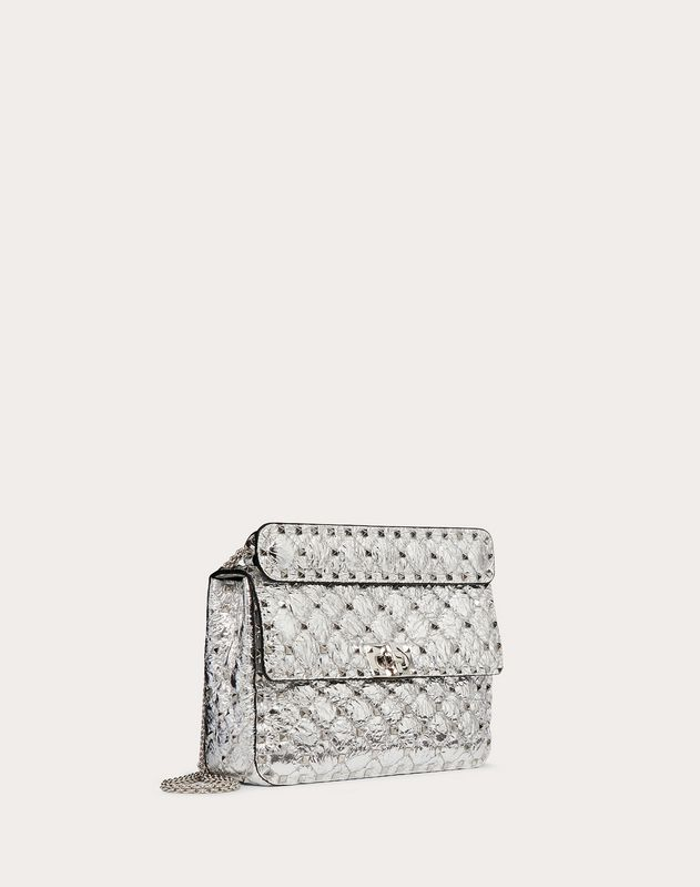 Medium Rockstud Spike Metallic Nappa Leather Bag
