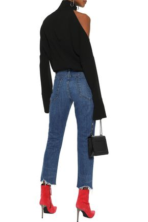 RAG & BONE Dre cropped distressed mid-rise straight-leg jeans