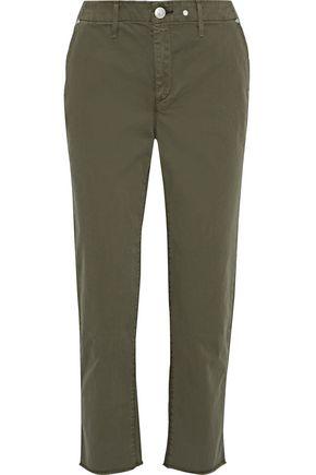 RAG & BONE Ashlyn cropped frayed cotton-blend straight-leg pants