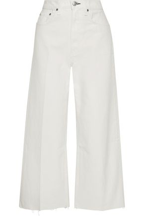 RAG & BONE Haru frayed cotton wide-leg pants