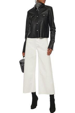 RAG & BONE Haru frayed cotton wide-leg pants