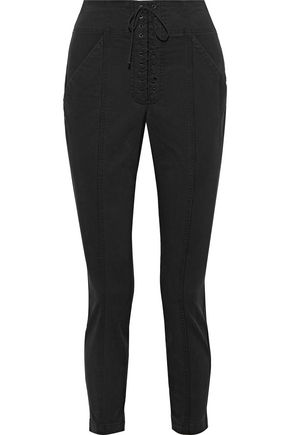 A.L.C. Cropped stretch cotton-twill skinny pants