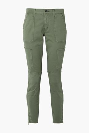 J BRAND Utility cropped mid-rise skinny jeans