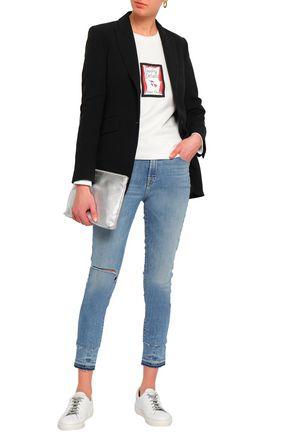 J BRAND Alana cropped distressed high-rise skinny jeans