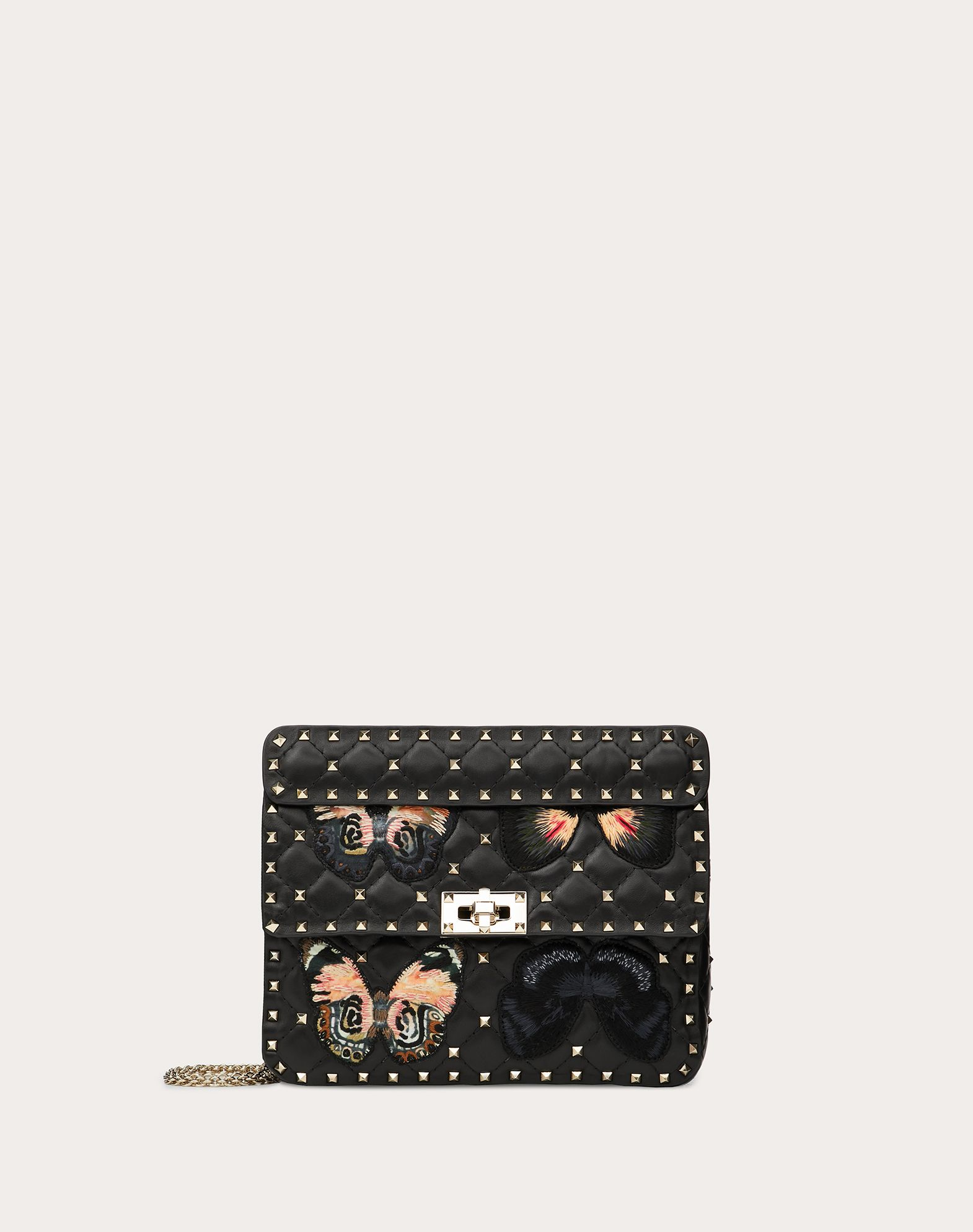 Medium Rockstud Spike.It Bag with Butterfly Patches