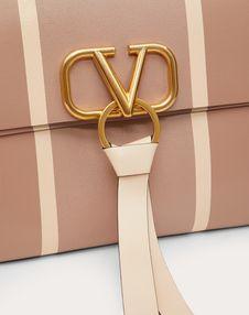 VRING Shoulder Bag with Inlaid Stripes