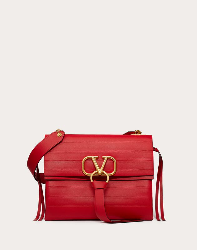 VRING Shoulder Bag with Multi-Stripe Design