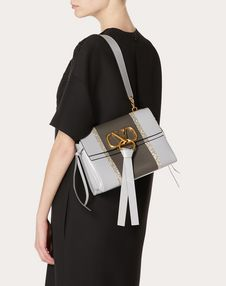 Small VRING Shoulder Bag with Inlaid Stripes