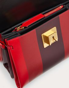 Small VRING Shoulder Bag in Smooth Calfskin with Multicoloured Inlay