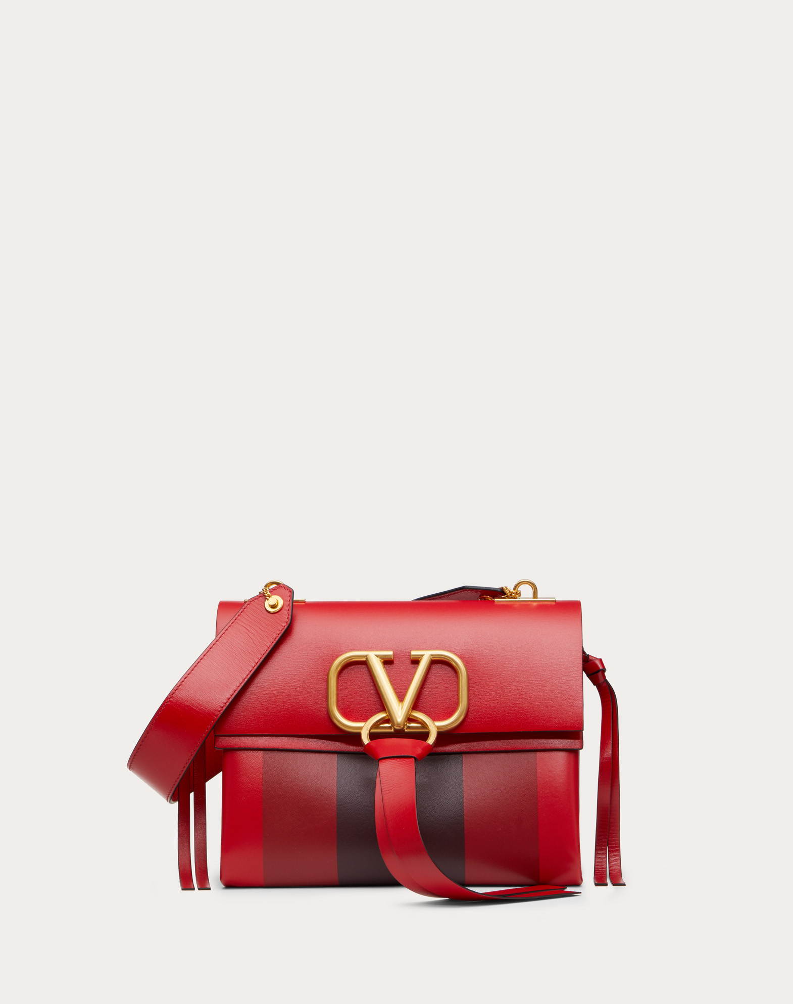 Small VRING Shoulder Bag in Smooth Calfskin with Multicolored Inlays