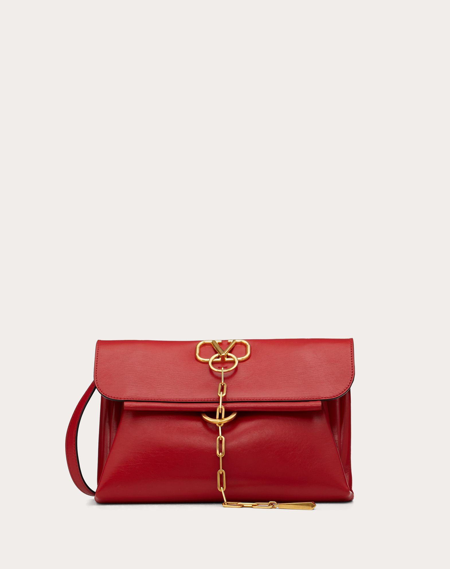 VCHAIN Smooth Calfskin Crossbody Bag
