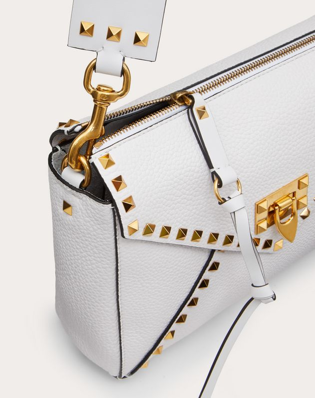 Rockstud Hype Grainy Calfskin Shoulder Bag