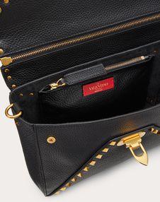 Rockstud Hype Grainy Calfskin Shoulder Bag