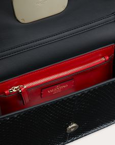 Small VCASE Glossy Python Bag