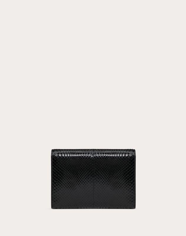 Kleine Tasche VCASE aus glänzendem Pythonleder