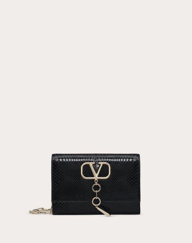 Маленькая сумка VCASE из глянцевой кожи питона