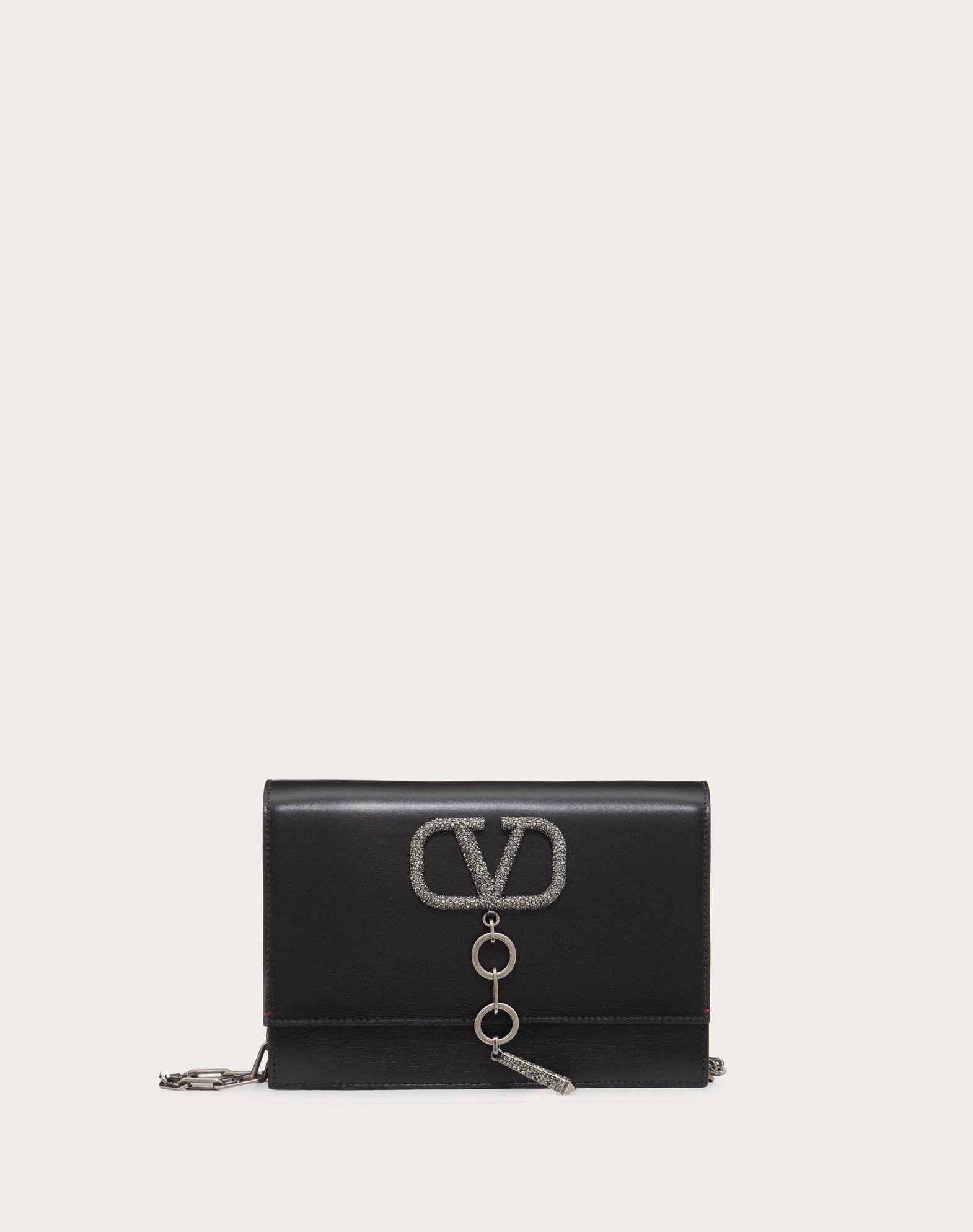 Kleine Tasche VCASE aus glänzendem Kalbsleder