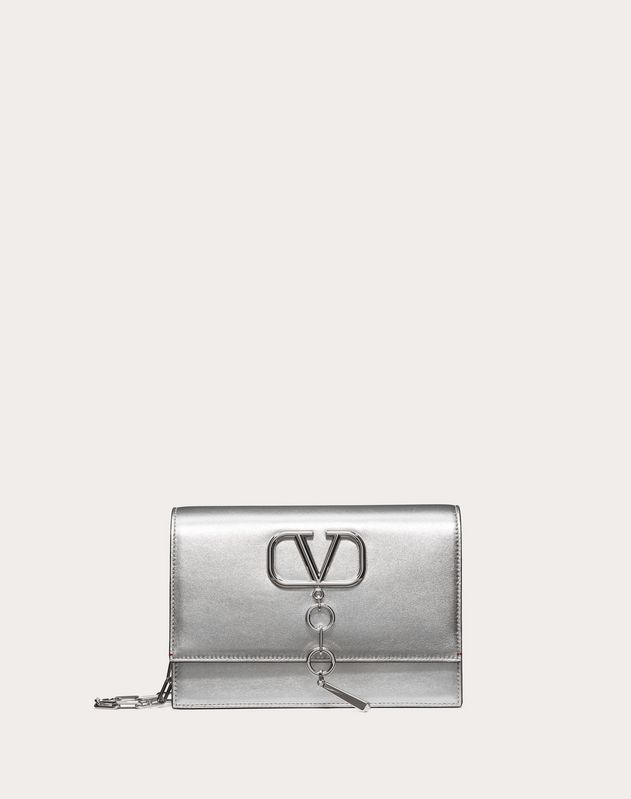 Small VCASE Metallic Nappa Leather Bag