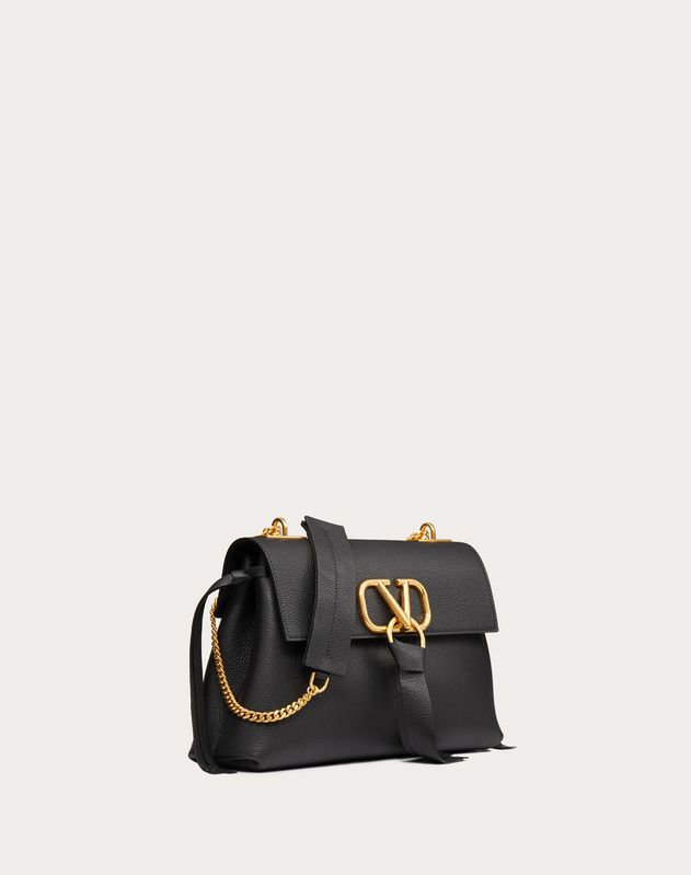 VRING Grainy Calfskin Crossbody Chain Bag