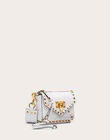 Small Rockstud Hype Grainy Calfskin Shoulder Bag