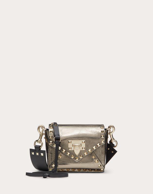 Small Rockstud Hype Metallic Lambskin Shoulder Bag