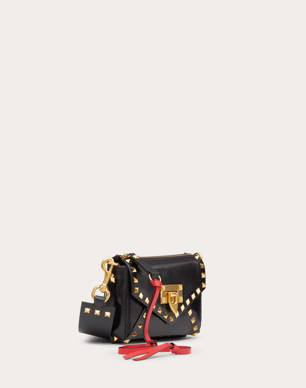 Small Rockstud Hype Smooth Calfskin Shoulder Bag