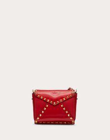 Маленькая сумка на ремешке Rockstud Hype из глянцевой телячьей кожи