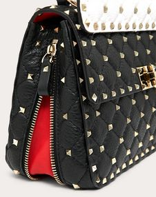 Medium Spike.Up Grainy Calfskin Bag