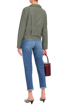 J BRAND Distressed low-rise slim-leg jeans