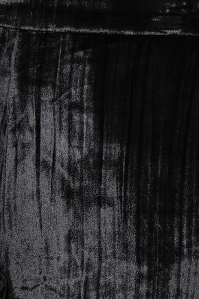 J BRAND Marlee cropped metallic crushed-velvet tapered pants
