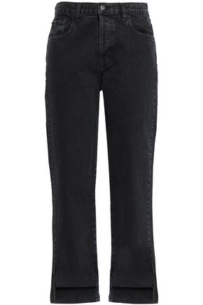 J BRAND Asymmetric high-rise straight-leg jeans