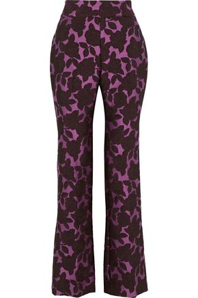 LELA ROSE Sam brocade straight-leg pants